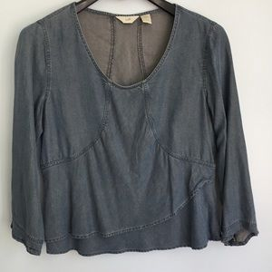 J. Jill Blue Chambray Top